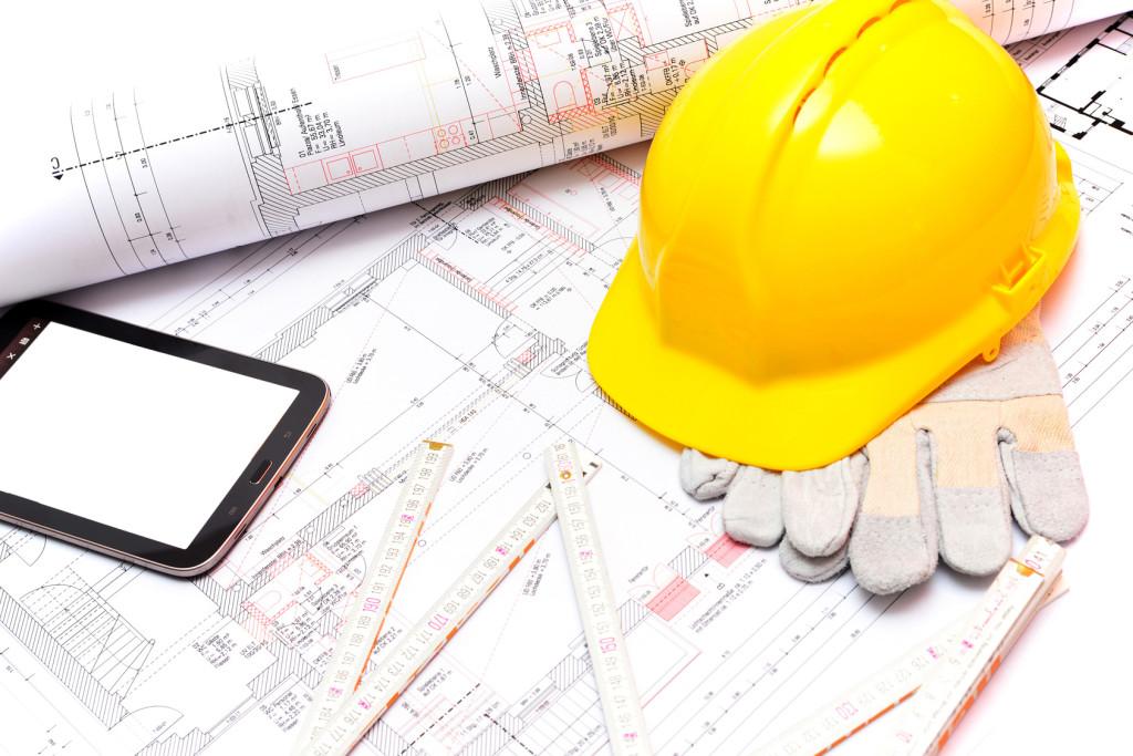 Konzept Ingenieurwesen Hausbau // Engineering concept